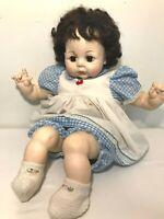 "VTG 1965 Madame Alexander Pussycat 6246 Baby Doll Brunette Dress Booties 21"""
