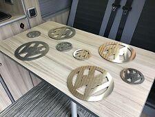 VW Splitscreen,Baywindow,T25,T4,T5 Camper Stainless Steel Coasters / Place Mats