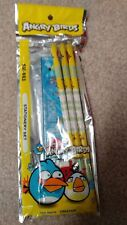 Angry Birds Stationary Set 6 Pcs Pencils Ruler Free Tracking Us Seller New!