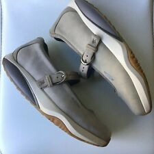 MBT US 9 EU 39.5  Nude Taupe Suede Leather Rocker Walking Shoes Mary Jane As New