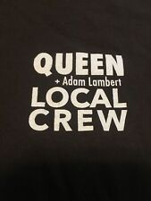 Rare Working Queen + Adam Lambert Xl Tour Brown T-shirt Local Crew