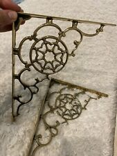 Solid Brass Shelf Brackets Victorian Style Vintage Scrolled 8� X 10� 4 Pairs Ava