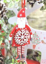 Gisela Graham Navidad Scandi Nordic Copo De Nieve Papá Noel decoración