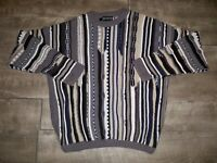 Vtg 90s Bachrach McGregor BIGGIE Sweater Pullover Shirt 3D Knit MultiColor XL