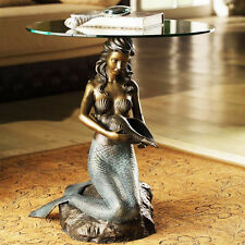MERMAID SCULPTURAL ACCENT TABLE * COCKTAIL SIDE END COFFEE SEA STATUE SCULPTURE