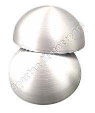 """3"""" Diameter Aluminum Discs Round End Domed Caps  3003  .132 thick  Set of 2"""