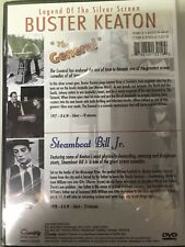 "New-Buster Keaton 2-Movies ""The General""+""Steam boat Bill Jr"" (Dvd,2003)Silent/Bw"