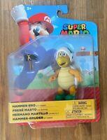 "Jakks Pacific Nintendo Super Mario 4"" HAMMER BRO Figure With Hammer"