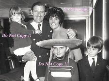 Graham Hill con su familia 1968 fotografía de retrato