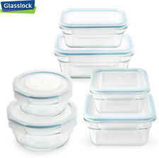 Glasslock Food-Storage Container Airtight Lids Microwave Safe 4pc Set in 3 sizes