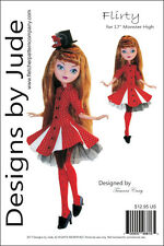 """Flirty Pattern for 17"""" Monster High Ever After Dolls"""