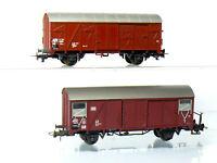 Roco 4304 + 4374 H0  2 Stück gedeckte Güterwagen Grs und Gls der DB