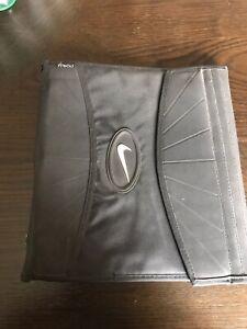 Vintage Nike Zipper 3 ring Binder Mead Black school organizer notebook