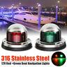 1 Pair Stainless Steel Marine Boat Yacht Light 12V LED Bow Navigation Lights New