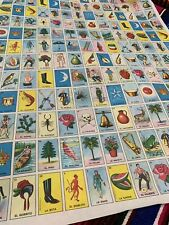 5 Standard Size Don Clemente Mexican Loteria Bingo Paper for Board Folded sheets