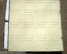 SALE Antique Ceiling Tin Tile Frame Simple & Elegant Chic Canvas Lemon Yellow