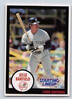 1990  JESSE BARFIELD - Kenner Starting Lineup Card - NEW YORK YANKEES - Vintage
