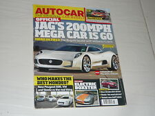 Autocar May11 Jaguar CX-75 MG6 Porsche Boxster E Volvo V70 Toniq CB200 Mini WRC