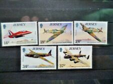 JERSEY FULL SET OF MINT STAMPS INCLUDING SPITFIRE,HURRICANE,LANCASTER,WELLINGTON