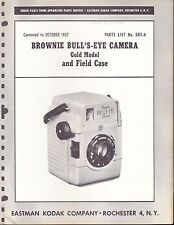 KODAK EXPLODED DIAGRAM & PARTS LIST: BROWNIE BULL'S-EYE - GOLD MODEL - 1957