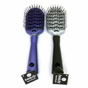 Ladies Soft Vented Hair Brush Comb Detangling For Women Massage Assorted Design