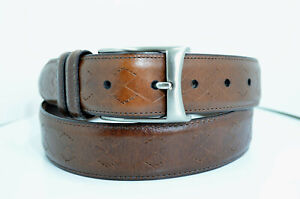Johnston & Murphy Brown 3387 Leather Belt size38