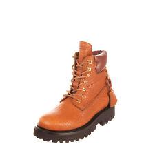 RRP €1290 BUSCEMI WISKY Leather Combat Boots LEFT SHOE ONLY EU 37 UK 4 US 7