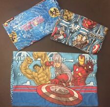 The Avengers Twin Sheet Set Pillowcase Flat Fitted Marvel Characters Bedding