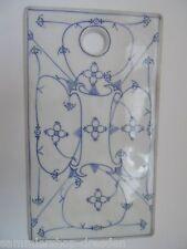 21053 Schneidbrett antik Porzellan Strohblume indisch blau cutting board vintage