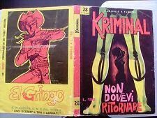 KRIMINAL  28  ORIGINALE - MOLTO BUONO - NON DI RESO