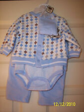 NWT Size 3-6M Boy's Baby Grand 5 Piece Outfit  Set