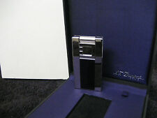 S.T.DUPONT LIGHTER BRIQUET D.LIGHT PALADIUM,BLACK LAQUE,021002 PUSH BUTTON NIB