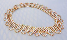 Rhinestone Collar Necklace Vintage Statement Runway