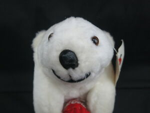 NEW PLAY-BY-PLAY COCA-COLA TEDDY BEAR COMMERCIAL RED BALL  PLUSH STUFFED ANIMAL