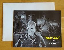 O WINSTON LINK - NIGHT TRICK - 1957 1ST EDITION - MINT IN SHIPPING ENVELOPE