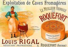 ART POSTER ROQUEFORT fromage Français Imprimé