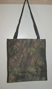 """Camo Tote Bag Camouflage New 12""""x12"""" Size Water Holder Green Black"""