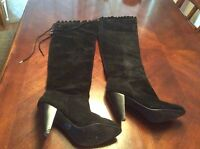 BCBG generation black suede sanji Over The Knee boots Size 8.5