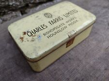 More details for collectable c1960's vintage charles farris ltd hounslow - tin with hinged lid