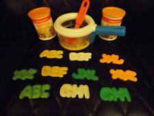 Fisher Price Fun with Play Food Alphabet Soup Simmerin' Soup Pot Vintage Set