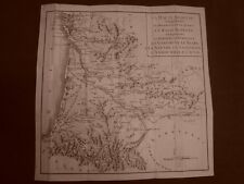 Haute e Basse Guyenne Settecentina Carta geografica mappa del 1789 Dulaure