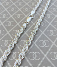 "Chunky Sterling Silver 4.8mm Rope Chain Necklace 18"" 20"" 22"" 24″ Men Ladies"