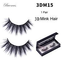 3D Buenas Mink Hair Natural Thick Wispy False Eyelashes Handmade Flutter Lashes
