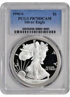 1990-S American Silver Eagle Proof - PCGS PR70 DCAM