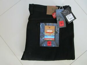 Thomas Cook Men's Black Thermal Regular Fit Straight Leg Stretch Jeans Size 44
