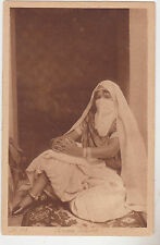 """Middle East,North Africa,Arab with Burka,""""Giovane Cedwine"""",# 195,c.1909"""