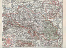 SCHLESIEN Schläsing Riesengebirge LANDKARTE von 1907 Niederschlesien