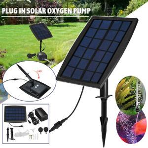 Solar Power Oxygenator Air Pump Aerator Set for Aquarium Garden Pond Fish Tank