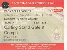 Ticket - Dagenham & Redbridge v Notts County 22.11.08