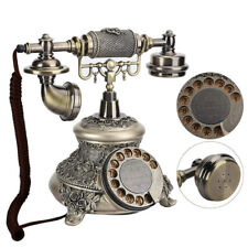 European Retro Vintage Resin Landline Phone Telephone for Rotary Office Home